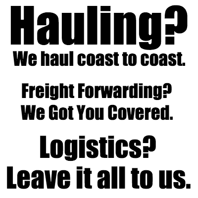 Hauling - Freight Forwarding - Logistics
